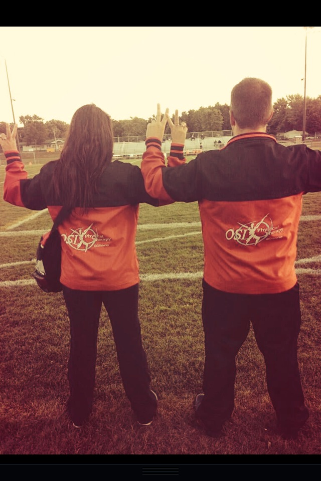 Alli (AT) and Jon (PT) on the field - Physical Therapy 2