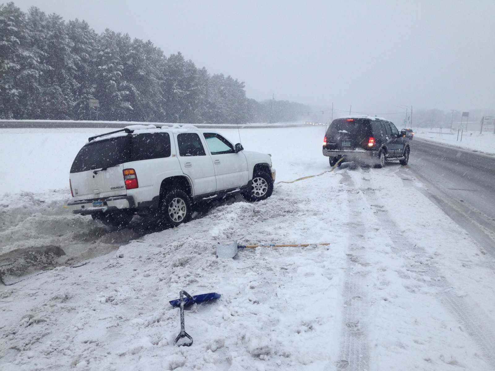 Getting towed - Minnesota winter storm - OSI Physical Therapy 3
