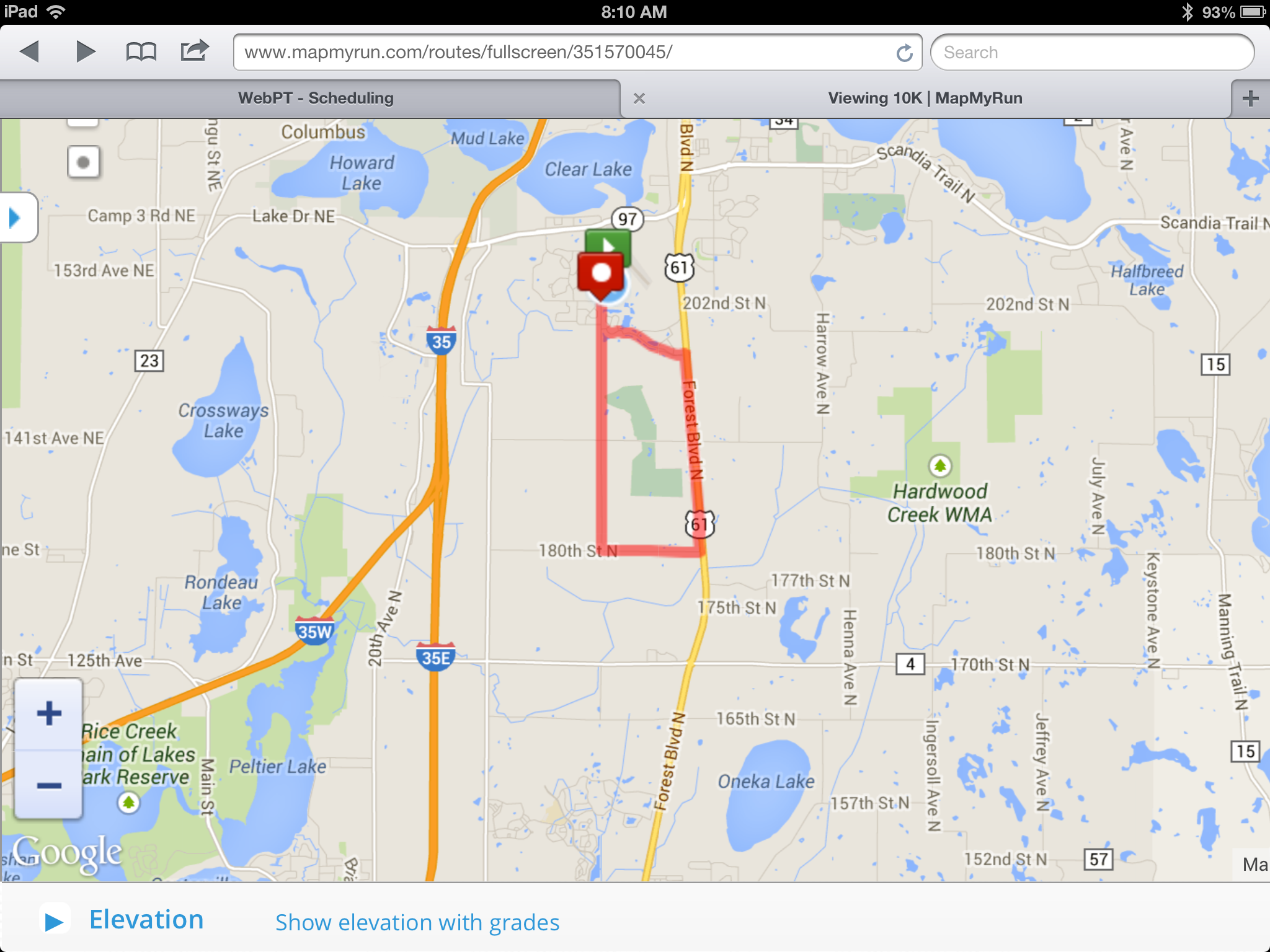 Fun In The Forest 10k 2014 map