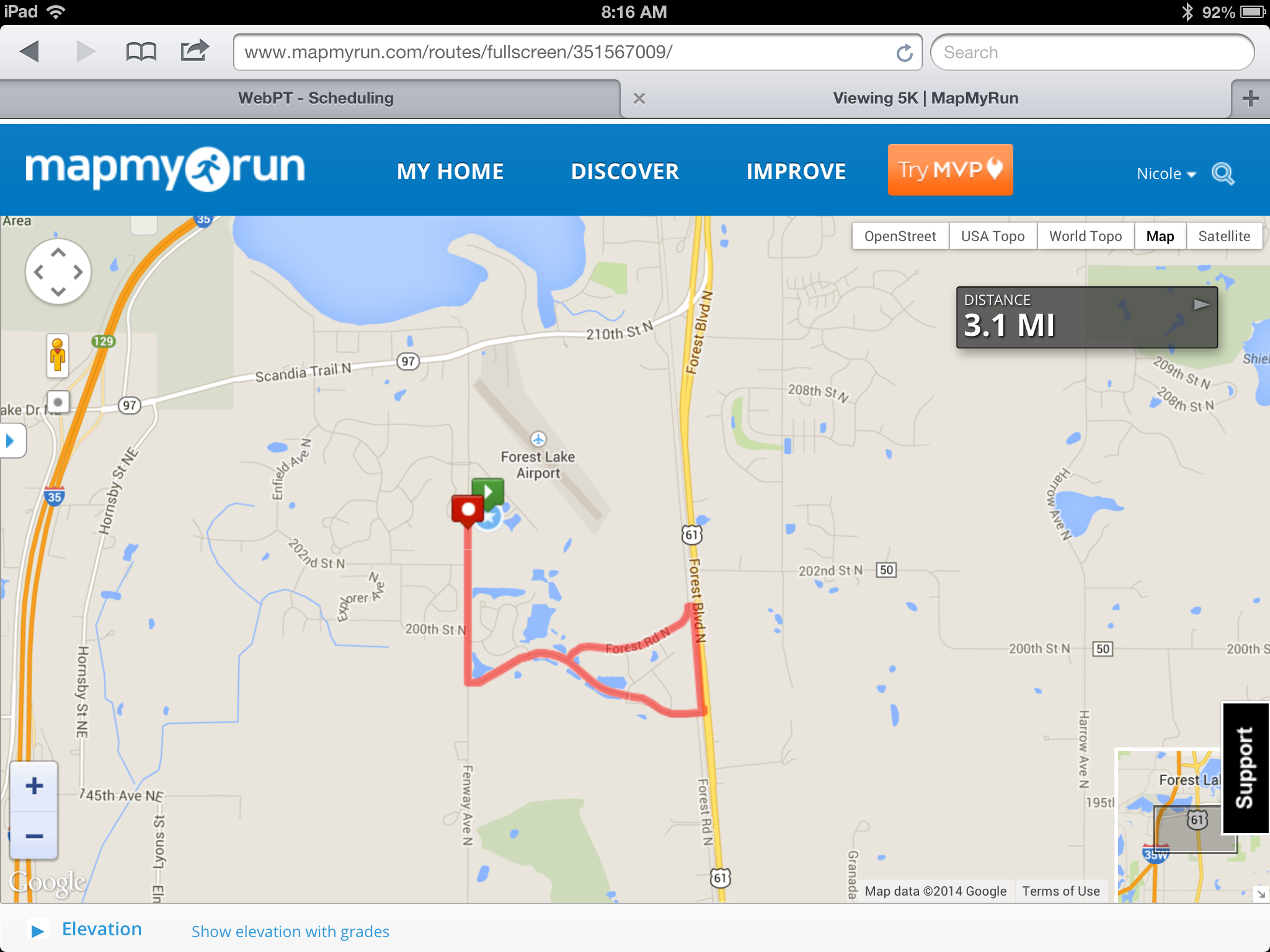 Fun In The Forest 5k 2014 map