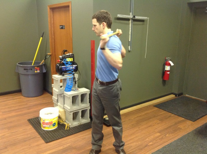 Rotating trunk of body golf warm up tips