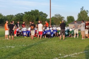 Coach Badger talking to the youth teams