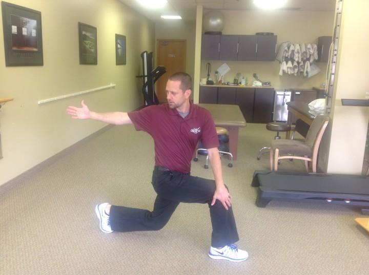 LUNGE + TRUNK ROTATION STRETCH