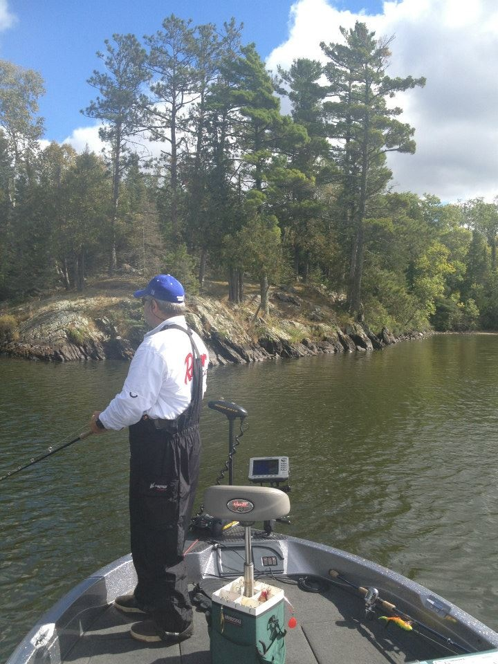 Standing for 5 hours Muskie fishing!