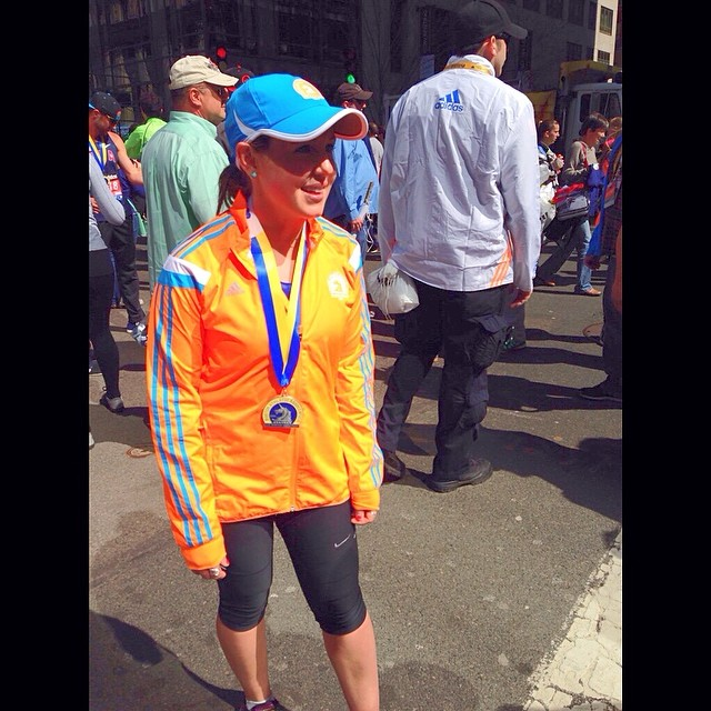 Emily Pocrnich at Boston Marathon