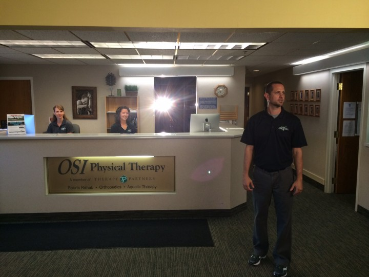 Joe KSTP tv commercial shoot - OSI Physical Therapy