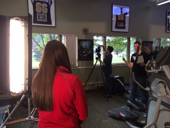 Tricia KSTP tv commercial shoot - OSI Physical Therapy