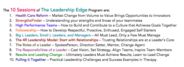 Leadership Edge #3 pt 3
