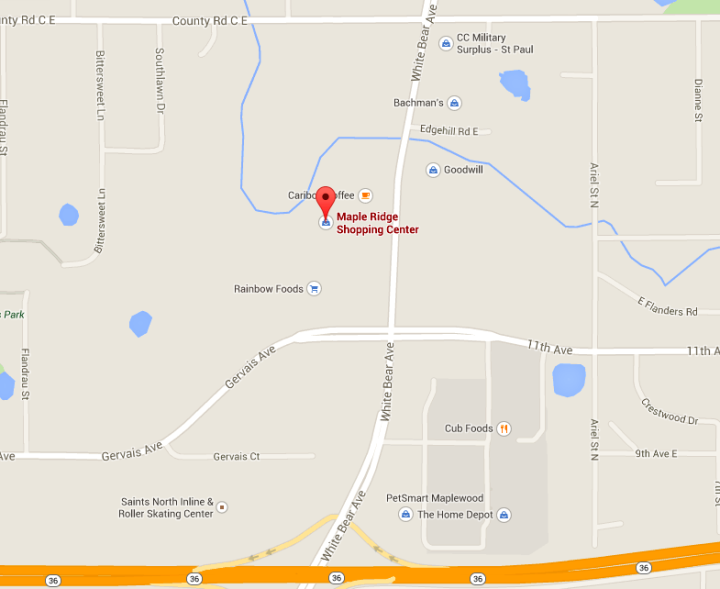 Map - Announcement - OSI Maplewood Location Has Moved!
