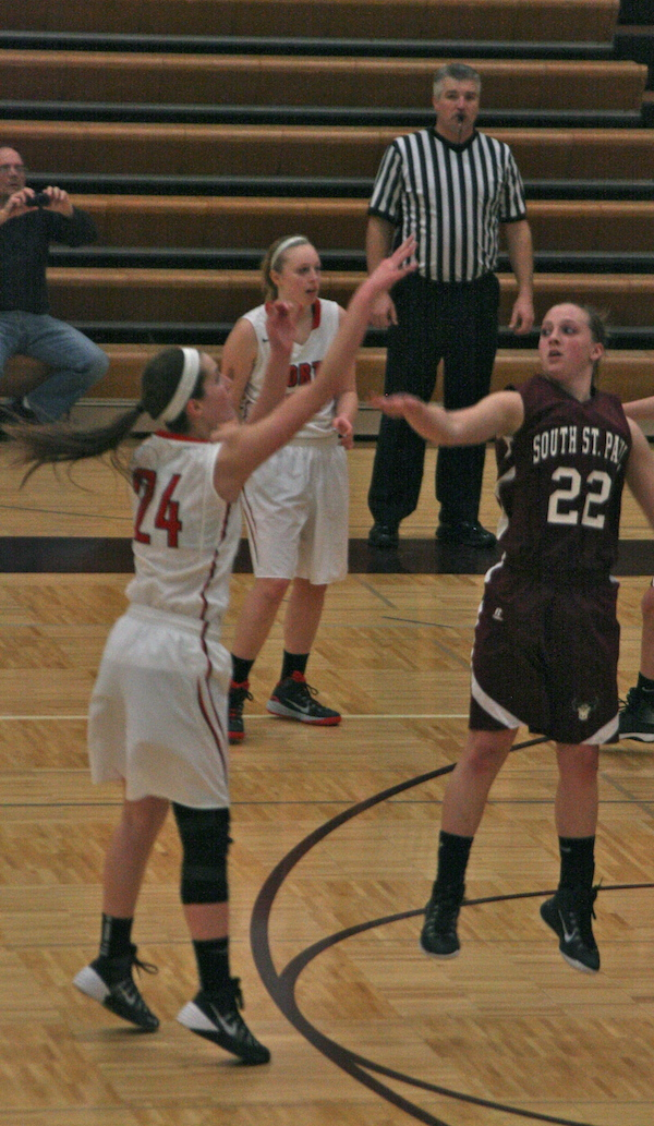 Shooting the basketball - Abby Schouvieller